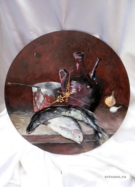 Кувшин вина и рыба