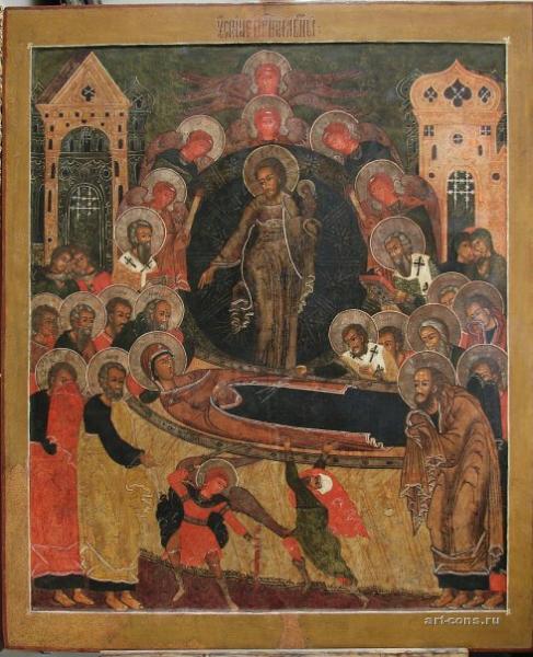 Реставрация иконы Успение Богоматери. После реставрации.