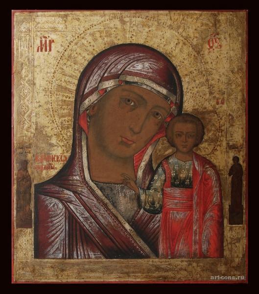 Казанская икона Божьей Матери. 19 век. после реставрации.