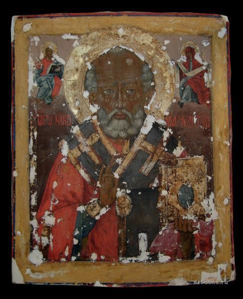 Святой Николай 18 век.в процессе  реставрации