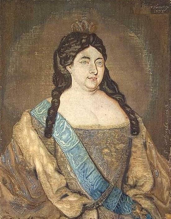 Портрет императрицы Анны Иоанновны. 1732.