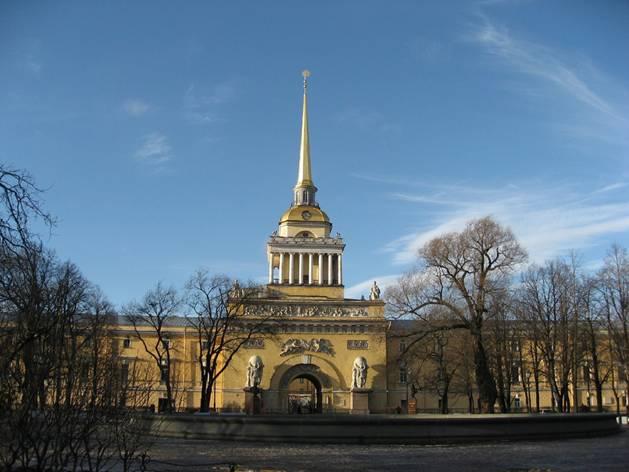 Кто архитектор Адмиралтейства в Санкт-Петербурге?