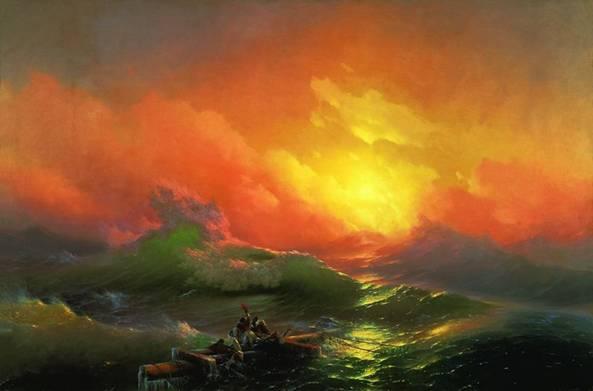 В каком году И. К. Айвазовский написал «Девятый вал»?