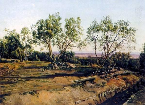 «Оливы у кладбища в Альбано. Молодой месяц» 1840-е гг. ГТГ