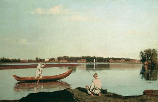 Рыбаки. Вид в Спасском. 1840-е. ГРМ