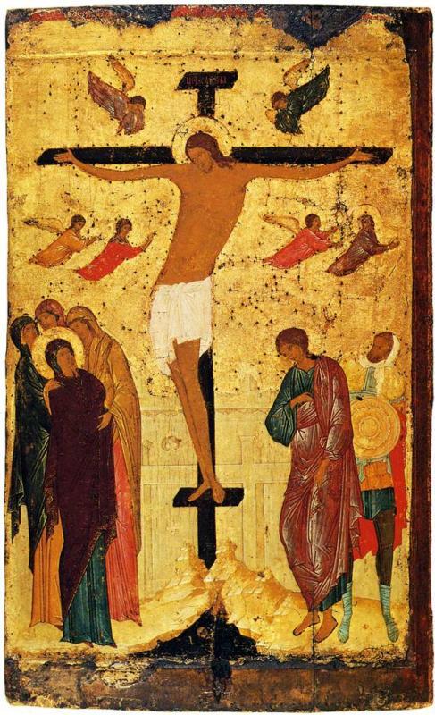 Кто автор иконы «Распятие» из праздничного чина Троицкого собора?