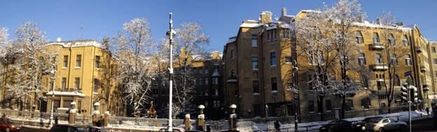 Кто архитектор домов 1-3 на Каменноостровском проспекте в Санкт-Петербурге?