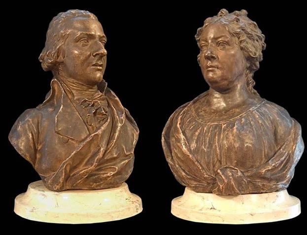 Кто скульптор, создавший парные бюсты А. Ф. и А. Е. Лабзиных в 1800 г.?