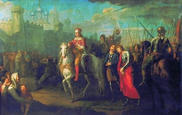 Торжественный въезд Александра Невского в город Псков после одержанной им победы над немцами (1793)