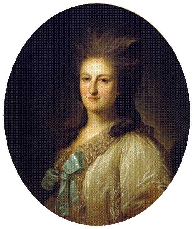 Кто автор портрета В. Е. Новосильцевой?