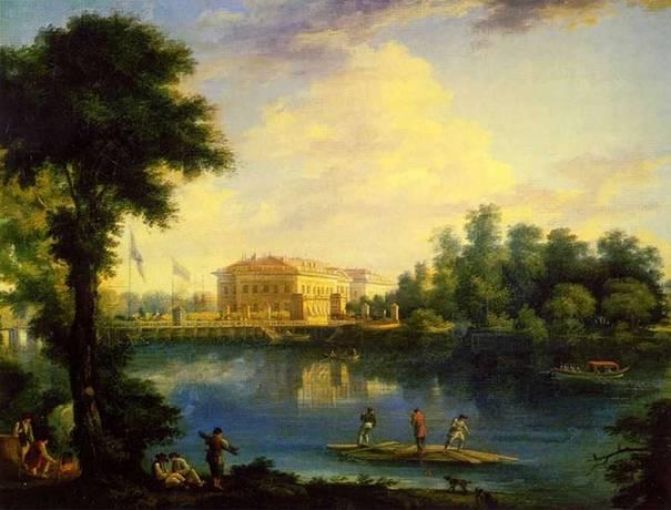 Кто автор пейзажа «Вид на Каменноостровский дворец» 1804г.?