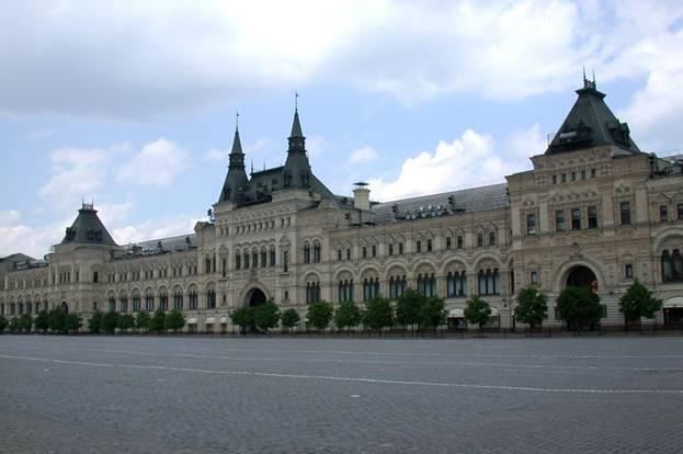 Верхние торговые ряды - теперь ГУМ - на Красной площади в Москве