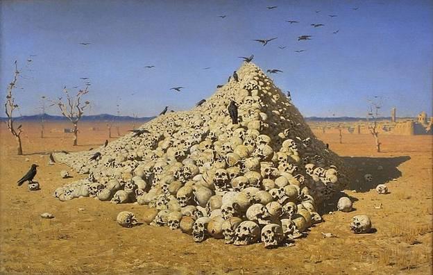 """Заключительное звено туркестанской серии - картина """"Апофеоз войны"""" (1871)."""