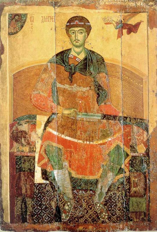 Димитрий Солунский (1275—1300 годы). Государственная Третьяковская галерея