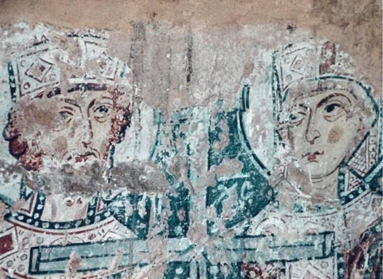 Откуда этот фрагмент  новгородской живописи «Константин и Елена» первой половины 12 в.?