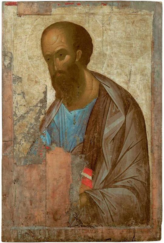 Какому Деисусу принадлежит эта икона кисти Андрея Рублева?