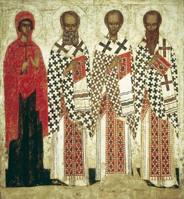 Какой школе принадлежит икона «Св. Анастасия, Григорий Богослов, Иоанн Златоуст и Василий Великий»?