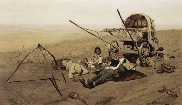 """Кто автор картины """"В дороге. Смерть переселенца"""" (1889)?"""
