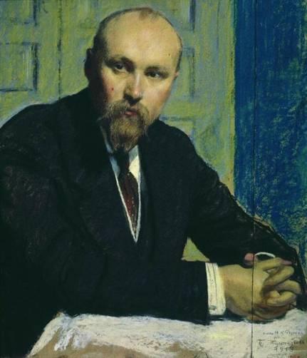 Чей портрет кисти Б.М. Кустодиева  (1913)?