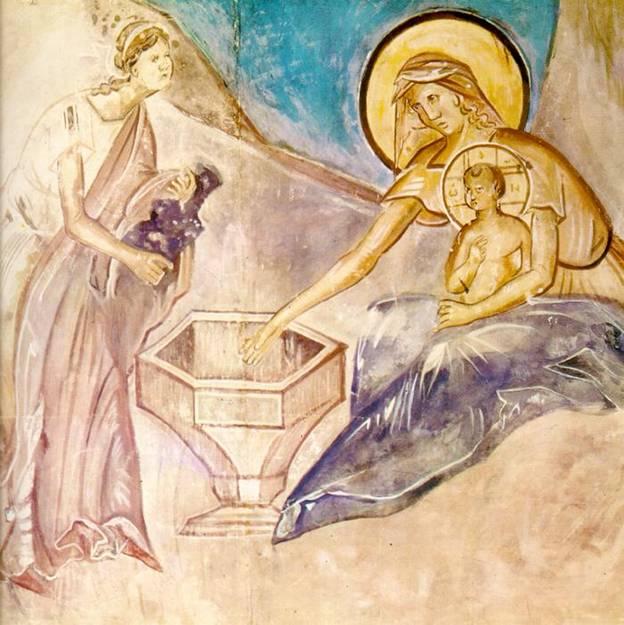 """Омовение младенца. Из сцены """"Рождество Христово"""""""