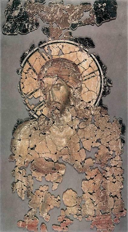 Откуда эта новгородская фреска «Христос во гробе» второй половины 14 века?